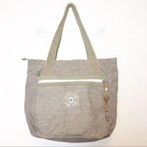 Kipling Washed Beige Tote Shoulder Bag